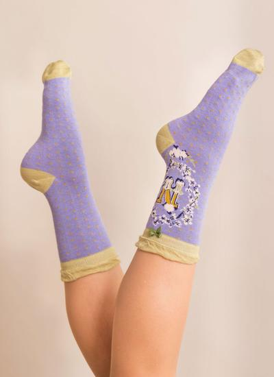 Set of 2 Ladies Alphabet Socks - N
