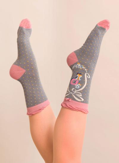 Set of 2 Ladies Alphabet Socks - P