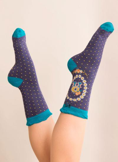 Set of 2 Ladies Alphabet Socks - R