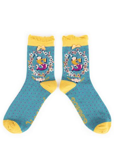Set of 2 Ladies Alphabet Socks - S
