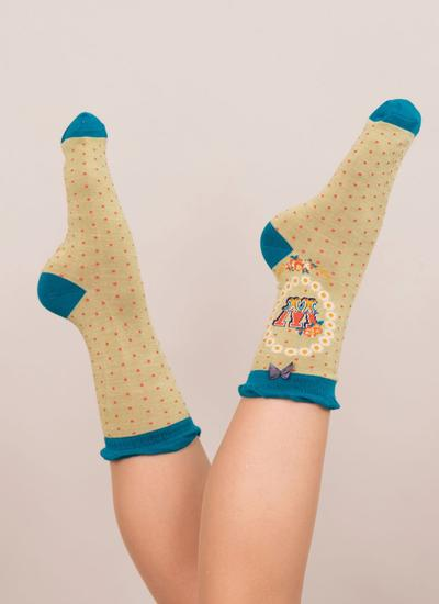 Set of 2 Ladies Alphabet Socks - W