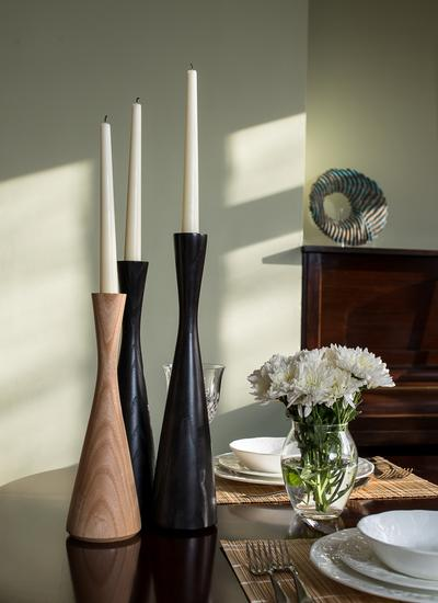 Ebonized Ash Candlesticks