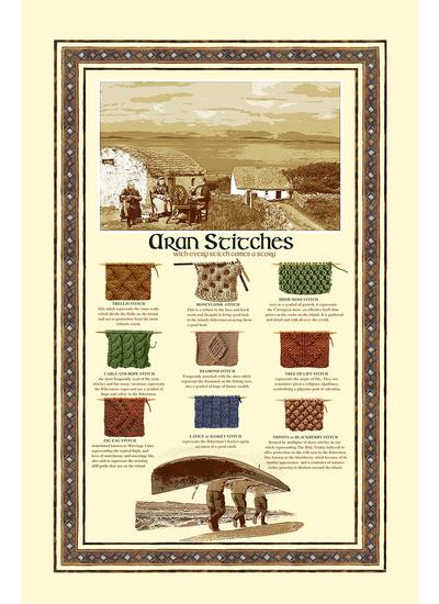 Aran Stitches Kitchen Towels Set of 2