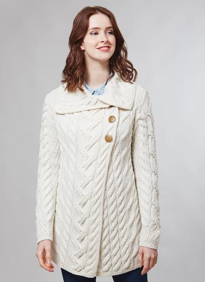 Supersoft Merino Wool Long Cable Cardigan