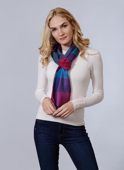 Avoca Merino Wool Scarf Jewel Fields