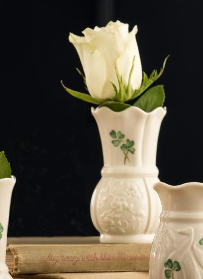 Belleek Shamrock 4'' Vase