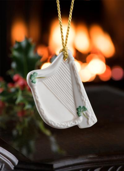 Belleek Harp Decoration