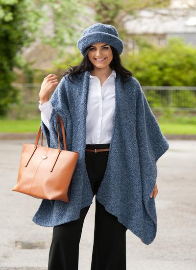 Ruana Cape Denim