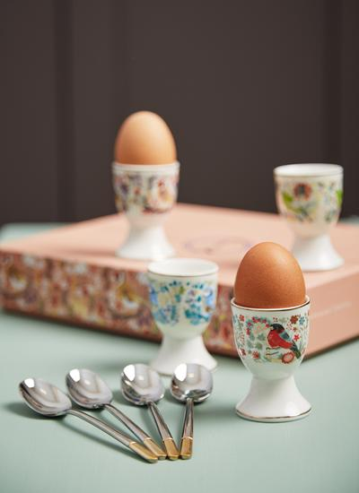 Birdy Egg Cup & Spoons Set of 4