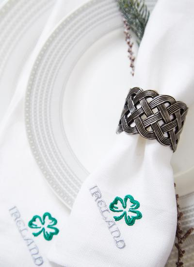 Celtic Knot Napkin Rings Set of 4