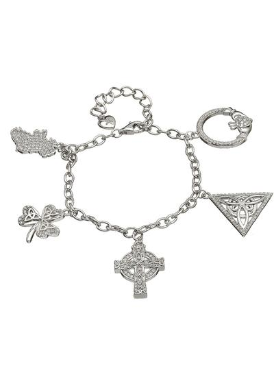 Sterling Silver Irish Charm Bracelet