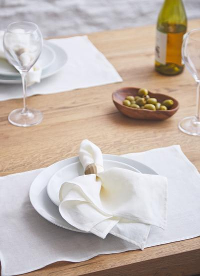 Blarney Irish Linen Classic Cream Chambray Placemats