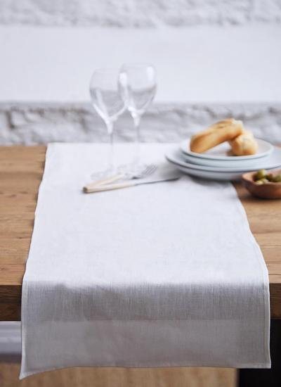 Blarney Irish Linen Classic Cream Chambray Table Runner