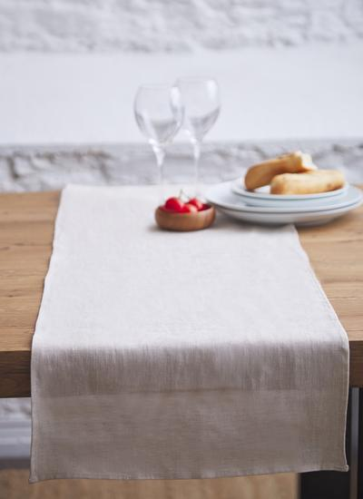 Blarney Irish Linen Natural Chambray Table Runners