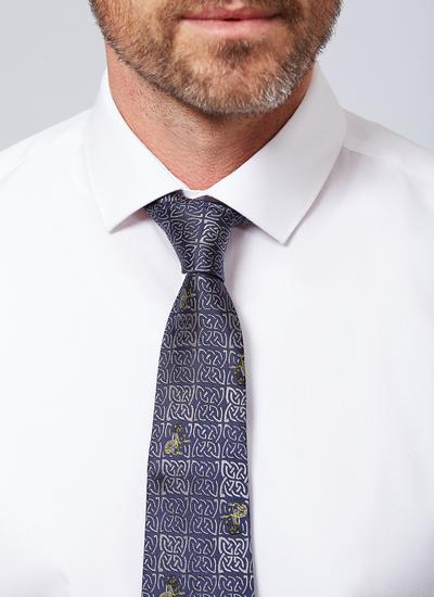 Book of Kells Navy Silk Tie