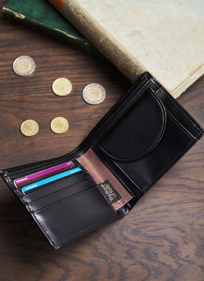 Black Leather Book of Kells Wallet