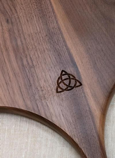 Trinity Knot Walnut Wood Pizza Peel