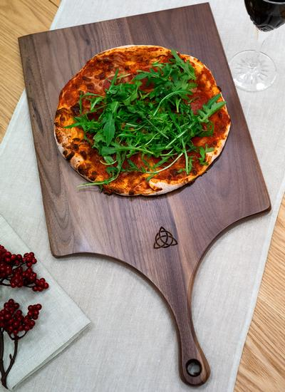 Personalized Trinity Knot Walnut Pizza Peel