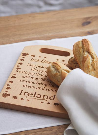 Irish Beech Chopping Board With Home Blessing