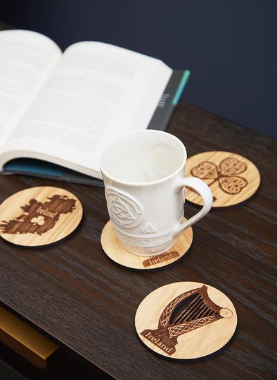Irish Oak Coasters Set of 4