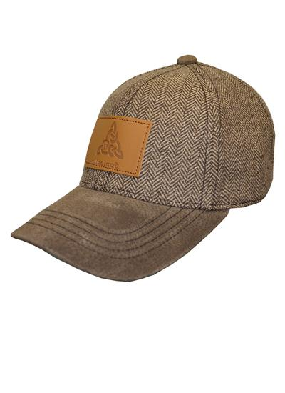 Men's Brown Tweed Celtic Knot Baseball Cap