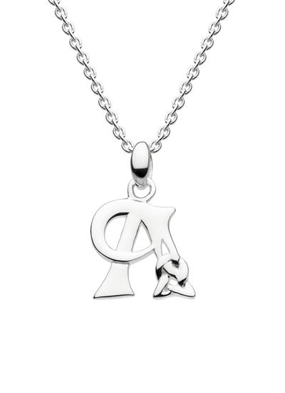 Sterling Silver Celtic Knot Initial Pendant - A