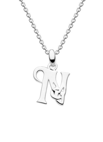 Sterling Silver Celtic Knot Initial Pendant - N