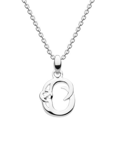 Sterling Silver Celtic Knot Initial Pendant - O