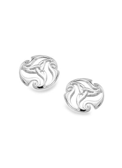 Celtic Swirl Trinity Knot Earrings