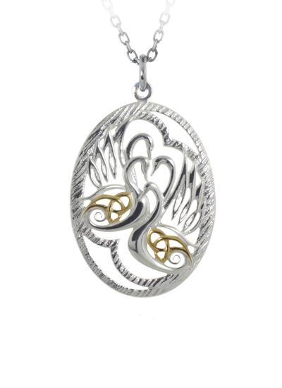 Sterling Silver Children Of Lir Pendant