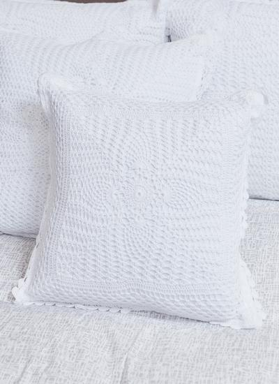 Clover Crochet Cushion Cover Set of 2