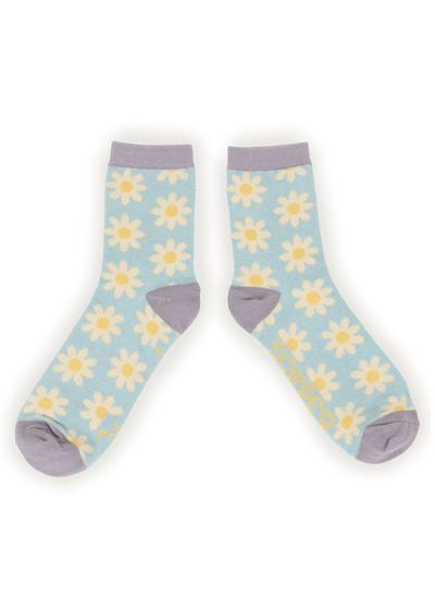Ladies Daisy Ankle Socks Set of 2