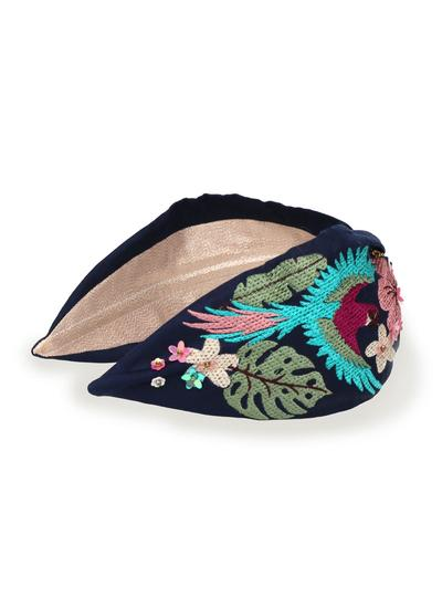 Embroidered Parrot Headband