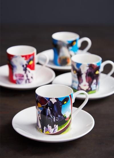 Eoin O'Connor Espresso Cups Set of 4