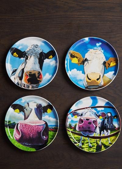 Eoin O'Connor Biscuit Plates Set of 4