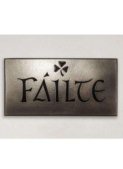 Failte Plaque Bronze