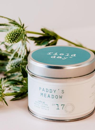 Paddy's Meadow Tin Candle