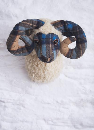 Fintan the Ram Trophy Head