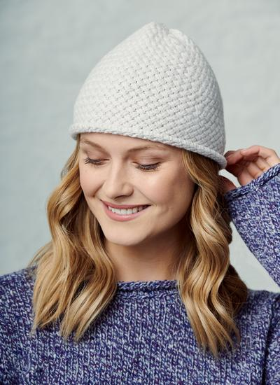 Fisherman Basket Stitch Beanie