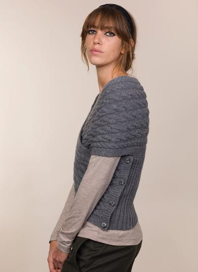 Fisherman Aran Cable Wrap in Wool & Cashmere
