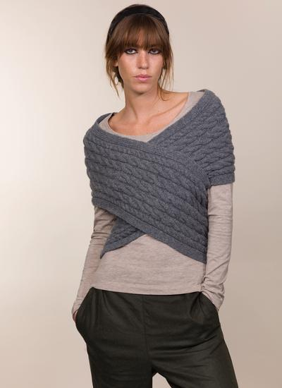 Fisherman Cashmere Aran Cable Wrap