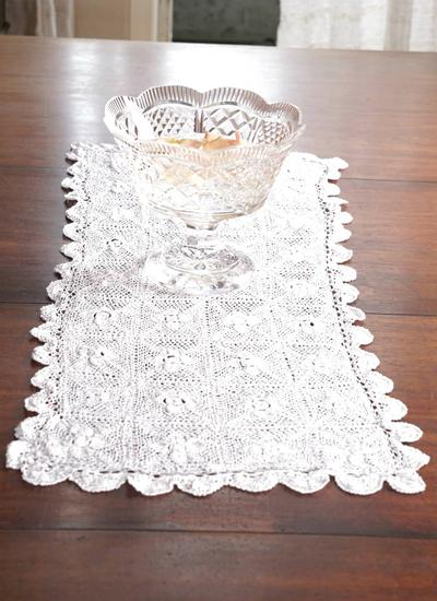 Floral Lace Table Runner