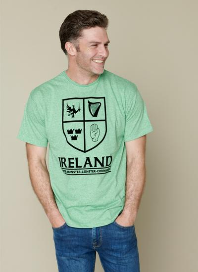 Four Corners Of Ireland Green T-Shirt