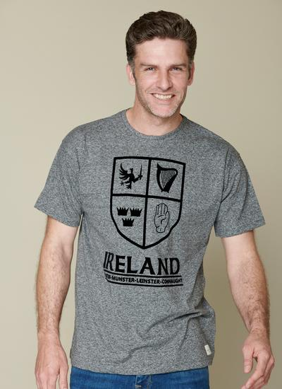 Four Corners Of Ireland Grey T-Shirt
