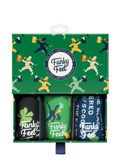 Funky Feet 3 Pack Irish Drinking Socks
