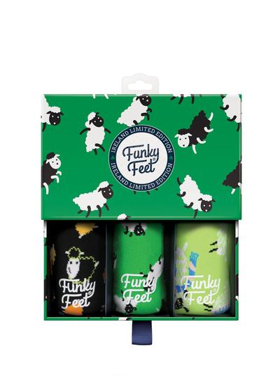Funky Feet 3 Pack Irish Sheep Socks