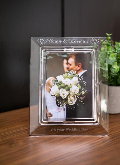 Galway Crystal Personalized Wedding Frame 5'' x 7''