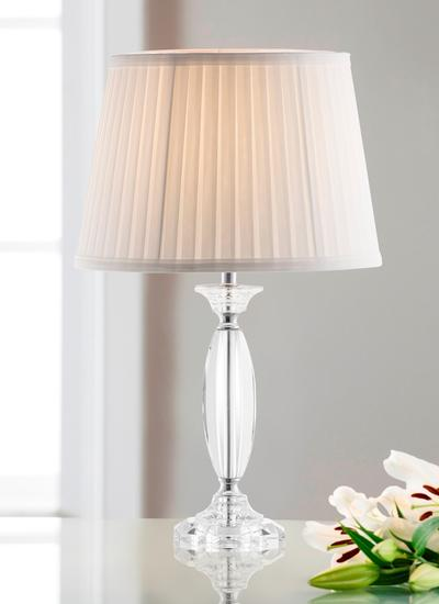 Galway Crystal Lyon Lamp & Shade