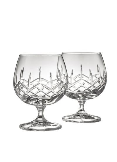 Galway Crystal Longford Brandy Pair