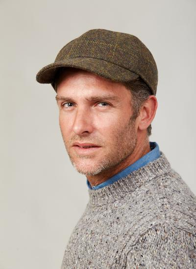 Gents Tweed Baseball Cap with Ear Flaps